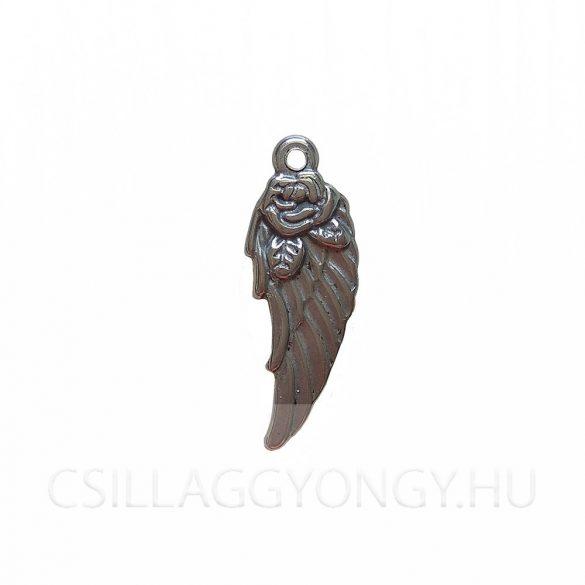 Rózsás angyalszárny medál (nagy méretű)